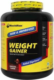 MuscleBlaze Weight Gainer with Added DigeZyme (3Kg, Chocolate)