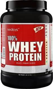 Medisys 100% Whey Protein (1Kg / 2.2lbs, Vanilla)
