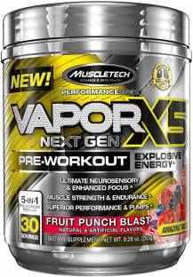 Muscletech Vapor X5 Next Gen Pre Workout Powder (263gm / 0.58lbs, Fruit Punch)