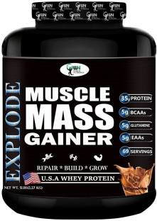 World Nutrition Explode Muscle Mass Gainer Powder (2.27Kg, Chocolate)