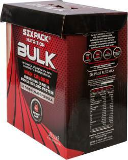 Six Pack Nutrition Bulk Weight Gainer (4Kg, Chocolate)