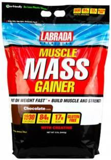 Labrada Nutrition Muscle Mass Gainer (5.44Kg / 11.99lbs, Chocolate)