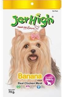 Jerhigh FD27-Banana Chicken Dog Treat 70 gm