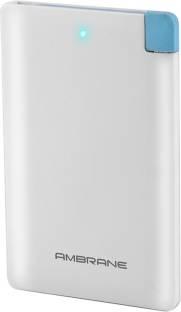 Ambrane Plush PP-25 2500mAh Power Bank (White)