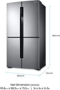 Samsung RF60J9090SL/TL 680 Litres Side By Side Refrigerator