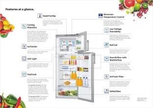Bosch KDN43VS20I 348 L 2S Double Door Refrigerator