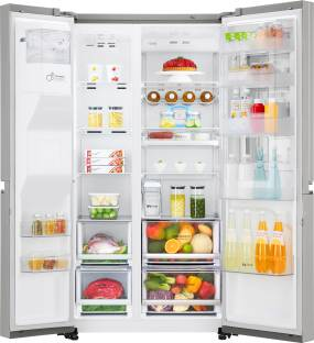 LG GC-X247CSAV 668L Frost Free Side by Side Refrigerator, Noble Steel
