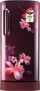 LG GL-D221ASPX 215 L 4 Star Direct Cool Single Door Inverter Refrigerator, Scarlet Plumeria
