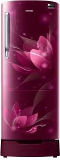 Samsung RR20N182YR8/HL/RR20N282YR8/NL 192 L 4 Star Direct-Cool Single-Door Inverter Refrigerator, Blooming Saffron Red