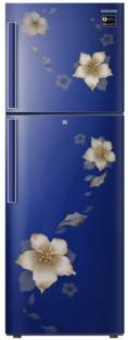 Samsung RT28N3342U2-HL 253 L 2 Star Frost Free Double Door Top Mount Inverter Refrigerator, Star Flower Blue