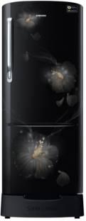 Samsung RR22N383ZB3/HL 212 L 3 Star Direct Cool Single Door Inverter Refrigerator, Rose Mallow Black