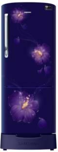 Samsung RR22N383ZU3/HL 212 L 3 Star Direct Cool Single Door Inverter Refrigerator, Rose Mallow Blue