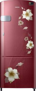 Samsung RR22N3Y2ZR2/HL 212 L 3 Star Direct Cool Single Door Inverter Refrigerator, Rose Mallow Red