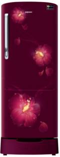 Samsung RR22N383ZR3/HL 212 L 3 Star Direct Cool Single Door Inverter Refrigerator, Rose Mallow Red
