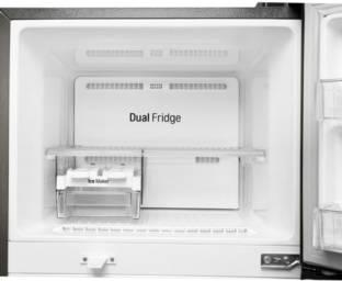 LG GL-T322RDSU 308 L 3 Star Frost Free Double Door Top Mount Refrigerator, Dazzle Steel