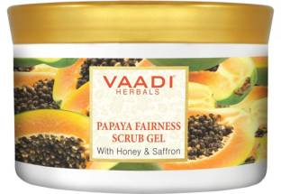 Vaadi Herbals Papaya Fairness Scrub Gel With Honey & Saffron Scrub (500gm)