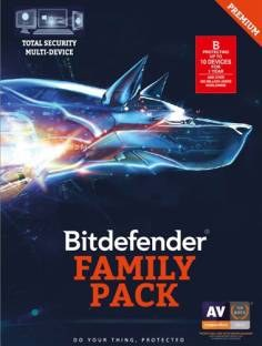 Bitdefender Family Pack 2016 10 PC 1 Year Antivirus