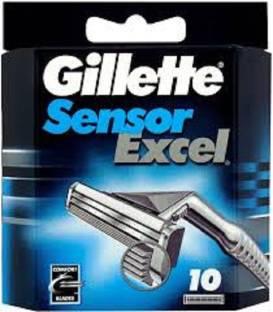Gillette Sensor Excel Men's Razor Blade Refills  10 cartridges