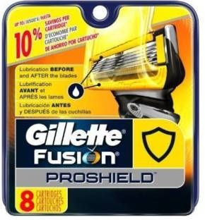 Gillette Fusion Proshield Blade Refills 8 Cartridges