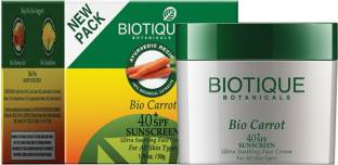 Biotique Bio Carrot 40+ SPF Sunscreen Ultra Soothing Face Cream 50gm