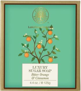 Forest Essentials Bitter Orange & Cinnamon Luxury Sugar Soap 125 GM