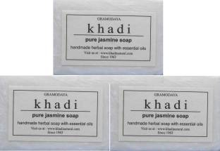 Khadi Pure Jasmine Handmade Herbal Soap 125 GMPack of 3