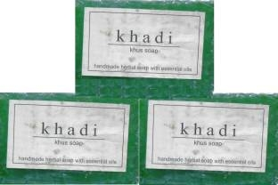 Khadi Khus Soap 125 GM Pack of 3