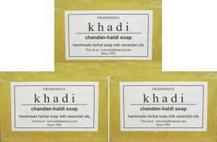 Khadi Chandan Haldi Soap, 125 GM (Pack of 3)