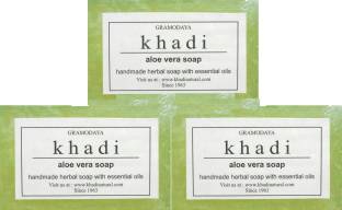 Khadi Pure Aloevera Soap, 125 GM (Pack of 3)