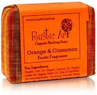 Rustic Art Organic Orange & Cinnamon Soap 100 GM