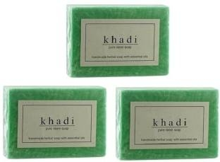 Khadi Pure Neem Herbal Soap 125 GM Pack of 3