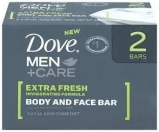 Dove Extra Fresh Men Plus Care Body & Face Bar, 4 OZ