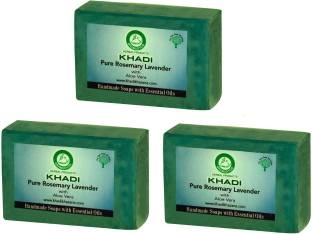 Khadi Pure Rosemary Lavender Soap 125 GM Pack of 3
