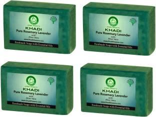 Khadi Pure Rosemary Lavender Soap, 125 GM (Pack of 4)