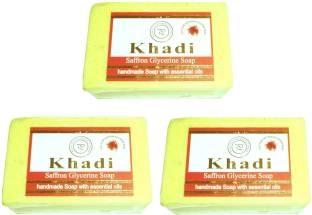 Khadi Saffron Glycerine Soap 125 GM Pack of 3