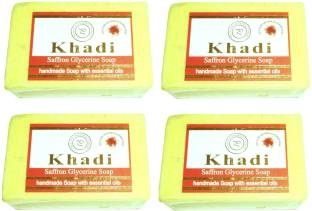 Khadi Herbal NaturalSaffron Glycerine Saop500 g Pack of 4