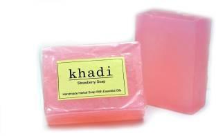 Khadi Strawberry Soap 125 GM Pack of 3