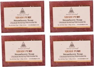 Khadi Pure Strawberry Soap 125 GM Pack of 4
