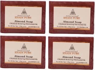 Khadi Pure Herbal Almond Soap 125 GM Pack of 4