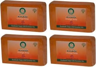 Khadi Orange Soap, 125 GM (Pack of 4)