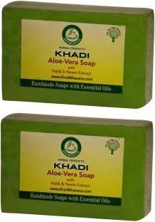 Khadi Aloe-vera Soap, 250 GM (Pack of 2)