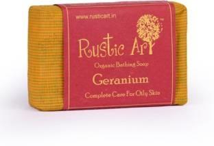 Rustic Art Organic Geranium Soap, 100 GM