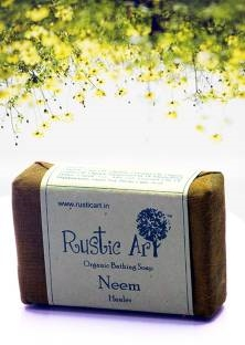 Rustic Art Organic Neem Soap, 100 GM