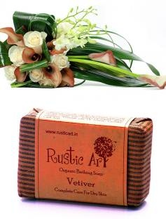 Rustic Art Organic Vetiver Soap, 100 GM