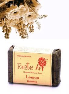 Rustic Art Organic Lemon Soap, 100 GM