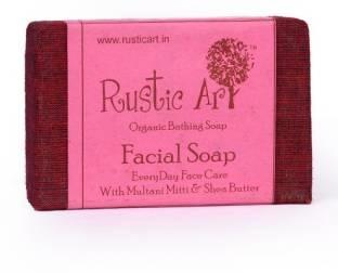 Rustic Art Organic Facial Soap, 100 GM
