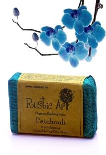 Rustic Art Organic Bathing Soap Patchouli, 100 GM