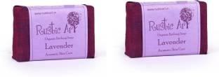 Rustic Art Organic Lavendar Soap, 200 GM (Pack of 2)