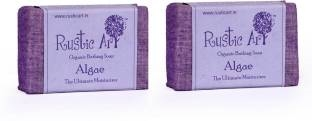 Rustic Art Organic Algae Soap 200 GM Pack of 2