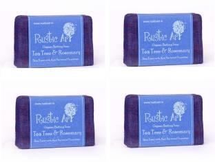 Rustic Art Organic Tea Tree & Rosemary Soap Pack of 4